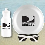 White Water Bottle, Flying Disc and Sunglasses Beach Kit
