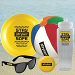 Water Bottle, Flying Disc, Beach Ball, Sunglasses & Yo-Yo Kit