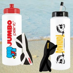 Custom Water Bottle and Promotional Sunglasses Kit