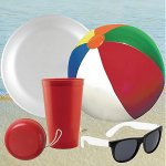 Stadium Cup, Beach Ball, Flying Disc, YoYo & Promo Sunglasses Kit