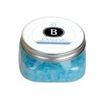 Exhale Bath Salts Clear Square Jar