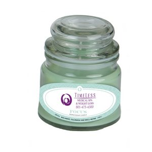 Focus Essential Oil Infused Soy Wax Candle 4 oz Apothecary jar