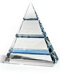Optic Crystal  Awardwith Light Blue Crystal Accents