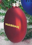 Ellipsoid Flat Custom Christmas Ornaments - Red