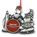 Holiday Elf Pewter Ornament with Logo Imprint