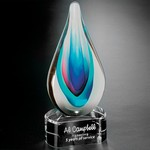 Elegance Art Glass Award 9 in.