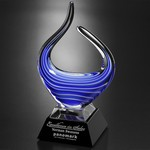 Blue Reflections Art Glass Award 10-3/4 in.