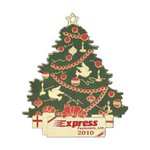 Christmas Tree Shape Holiday Ornament with Color