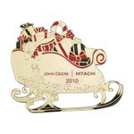 Sleigh with Gifts and Colored Accents Ornament