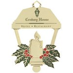 Holiday Candle Lantern Ornament with Imprint