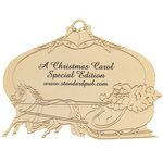 Goldtone Sleigh Scene Holiday Ornament