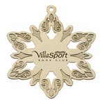 Snowflake - Golden Holiday Ornament with Imprint