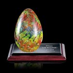 Hibiscus Art Glass Art Glass Award on Albion Base