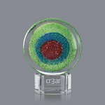 On Target Art Glass Award on Clear Base - 6.5 in. High