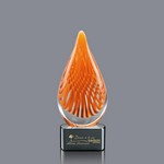 Aventura Art Glass Award on Ebony Glass Base