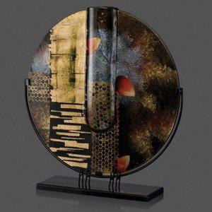 Oxford Art Glass Award- Contoured Round 20 Diam