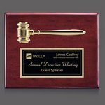 Gavel Plaque - Rosewood 10.5 in.x13 in.