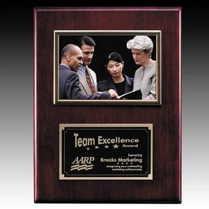 Metcalfe Plaque - Rosewood/Gold 4 in.x6 in. Photo