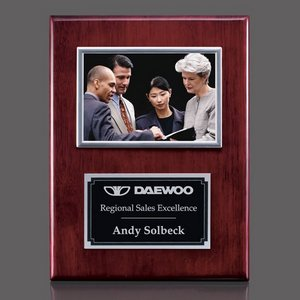 Metcalfe Plaque - Rosewood/Silver 4 in.x6 in. Photo