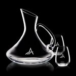 Bearden Carafe and 2 Stemless Wine Glasses Engraved