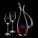 Uxbridge Carafe and 2 Wine Glasses Engraved