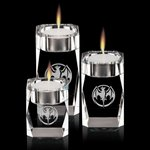 Abbey Candleholders - Optical Crystal (Set of 3)