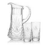 Cavanaugh Pitcher and 2 Hiball Glass Glass