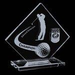 Barrick Crystal Golf Award - 6 in. High