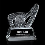 Dougherty Golf Award (S) - Optical 4 1/2 in  W