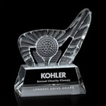 Dougherty Golf Award (L) - Optical 7 1/4 in  W
