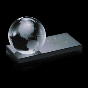 Globe on Ebony - Optical/Ebony 4 in. Diam