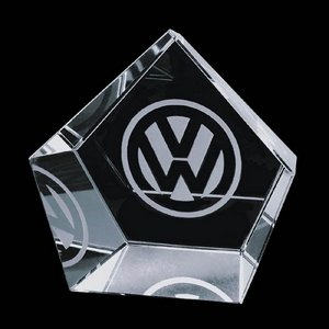 Valecrest Optical Crystal Hexagon Shape Award Papereight 3 in.