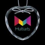 Optical Ornament w/VividPrint - Heart 3in.