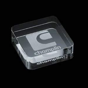 Dayton Paperweight - Optical 2 3/8 in. Square