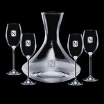 Senderwood Carafe and 4 Wine Glasses Engraved