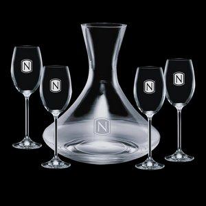 Senderwood Carafe and 4 Wine Glasses Engraved