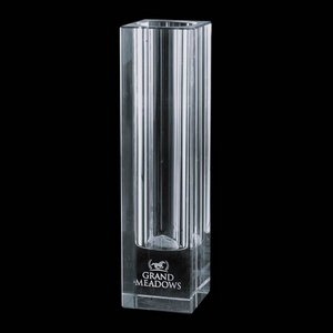 Bellaire Optical Crystal Vase - Optical 10 in.