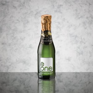 Custom Engraved Sparkling Wine/Champagne 187ml with 1 Color