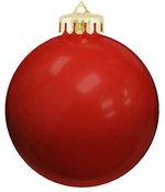 USA Shatterproof Christmas Ball Ornaments - Red