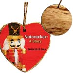 Rustic Wooden round Ornament - Full Color Direct Imprint