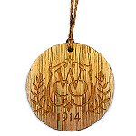 Rustic Wooden round Ornament - Laser Engraved