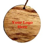 Rustic Wooden round Ornament - Screen Print