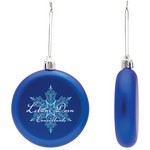 Flat Christmas Ornament - Round Shatter Resistant - Blue