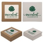 Square Absorbent Stone Coaster 4 Pack