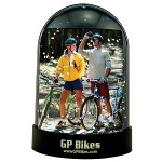 Magnetic Snow Globe Custom Imprint and Photo Insert
