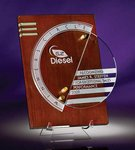 Circlescape Cherry Stained Walnut Plaque