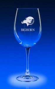 19oz. Colossal Engraved Wine Glass