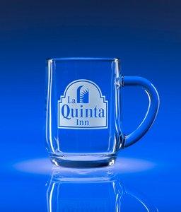 9.5oz. Clear Glass Tempered Coffee Mug