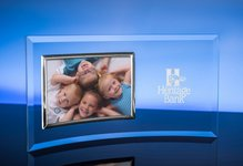 5in.  X 7in.  Horizontal Picture Frame / Silver