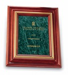 Black Marble Plaque with Solid Cherry Wood Frame